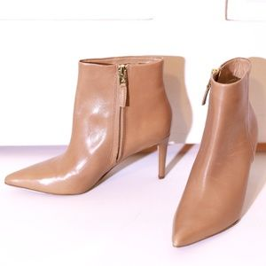 Sam Edelman Nude Pointed Toe Heeled Ankle Boots
